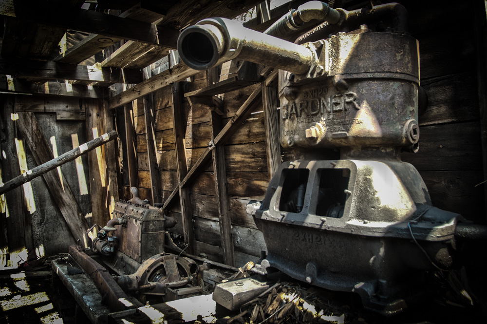 Engine of Industry - Power house of an abandoned mine