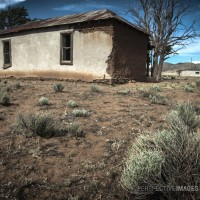 Dust Bowl - Abandoned ranch workers house in the New Mexico desert.