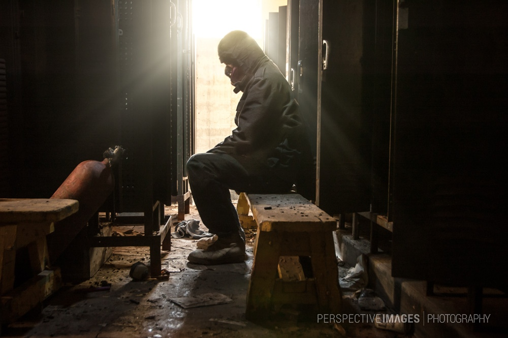 A Moment of Reflection - The underground locker room of an abandoned zinc mine