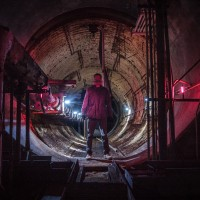 Red Alert - Looking down the tunnel from the Power House to the Air Intake of a Titan 1 missile base.