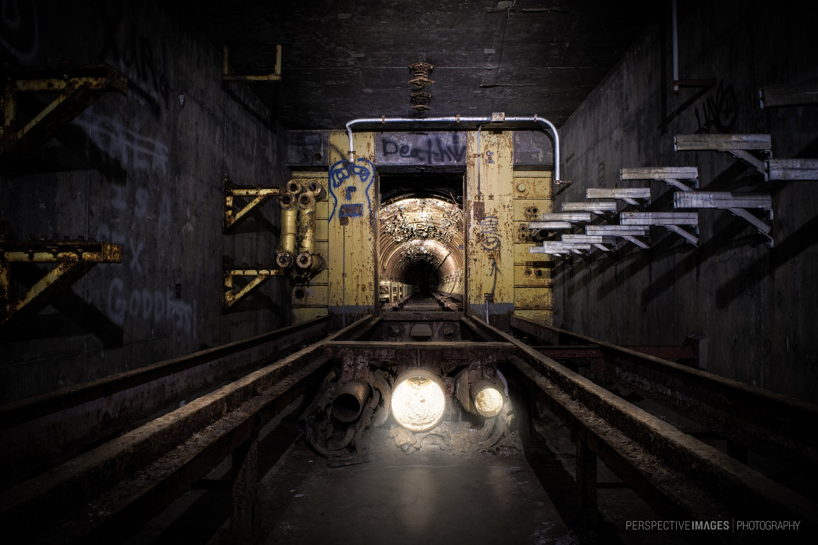 Burning Light - The entrance to launch area 1 of a Titan 1 missile base.