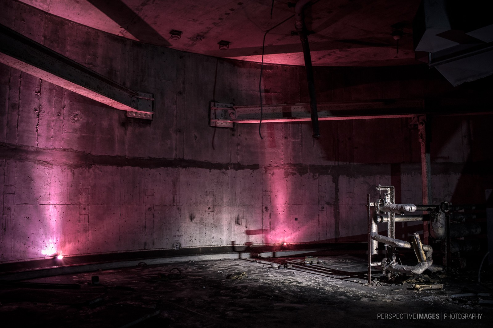Caught in the Light - Top floor of launch area 3 of a Titan 1 missile base.