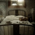 A Sleepless Last Night - Light creeps through boarded windows, catching the dust of a makeshift bed room.
